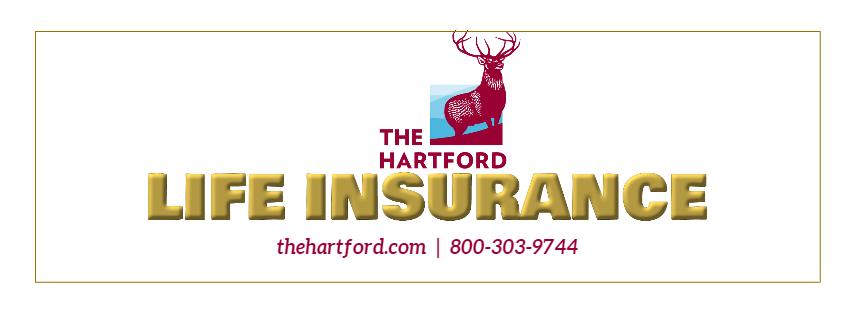 Life Insurance through Hartford.  Phone number 800-303-9744