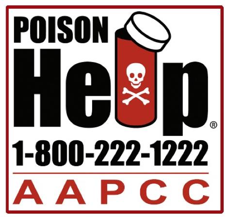 Poison Help: 1 (800) 222-1222