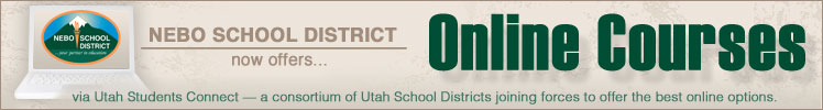 Nebo School District now offers Online Courses via Utah Students Connect - a consortium of Utah School Districts joining forces to offer the best online options.